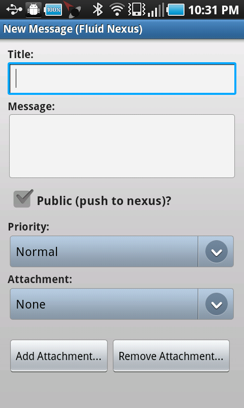 New message activity on Android