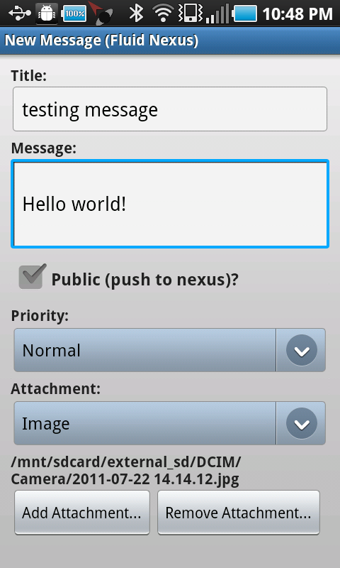 android new message complete