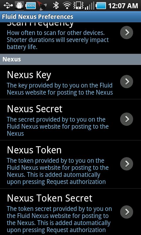 android nexus preferences