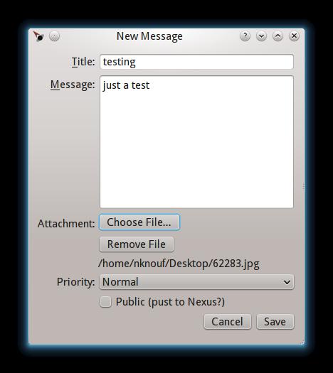 desktop new message complete