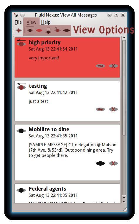 desktop view message types